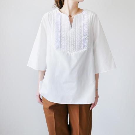 COOHEM  コーヘン   BOHEMIAN TWEED SHIRT ボヘミアンツイードシャツ 11-212-022 SIZE M/L WHITE