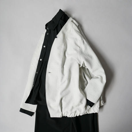 NO CONTROL AIR|ノーコントロールエアー|ノーカラージャケット|POLYESTER DOBBY BUTCHER CLOTH JACKET|レディース