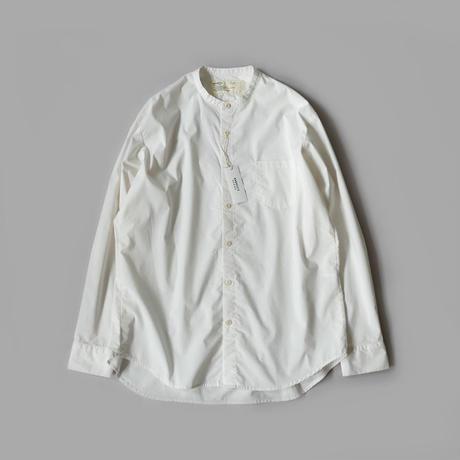 HARVESTY ハーベスティ   BAND COLLAR SHIRTS TRAVEL CLOTH(バンドカラーシャツ トラベルクロス)   WHITE A31901