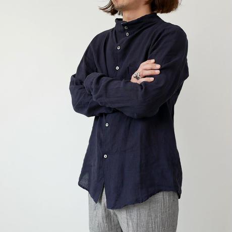 nisica|ニシカ |ガンジーネックシャツ |NIS-863|NAVY