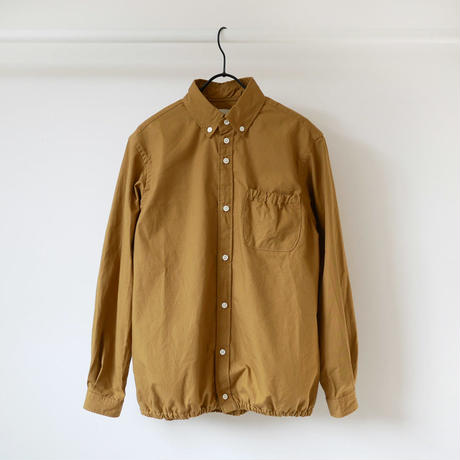 nisica|ニシカ |リップストップギャザーシャツ |NIS-841-SH|キャメル