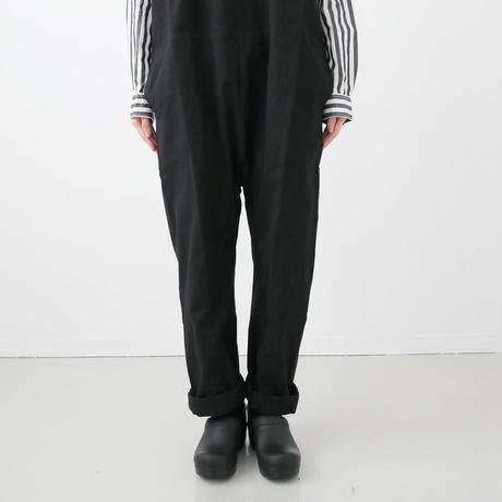 Si-Si-Si comfort|スースースーコンフォート|COVER ALLS サロペット|BLACK|19-SS030DP