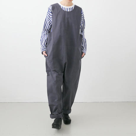 Si-Si-Si comfort|スースースーコンフォート  |COVER ALLS サロペット|GREY|18-AW030DP