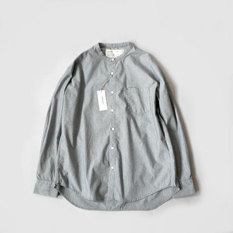 HARVESTY ハーベスティ   BAND COLLAR SHIRTS TRAVEL CLOTH(バンドカラーシャツ トラベルクロス)   GREY  A31901