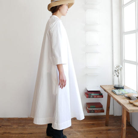THE FACTORY ザ・ファクトリー ポプリン ギャザーワンピース TF17SS-0501