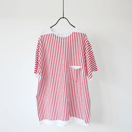SPOLOGUM スポロガム| REB RAB Tシャツ|WHITE×RED|