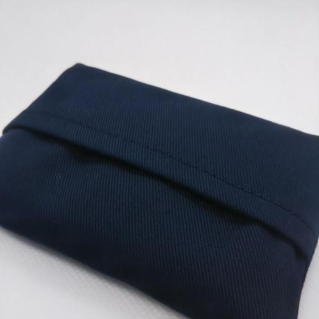 合格祈願 ミニティッシュケース  青色刺繍