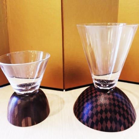 寄木細工 「酒ペアグラス」