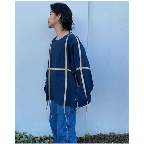 BLACK WEIRDOS「Adjustment Tape Shirt」