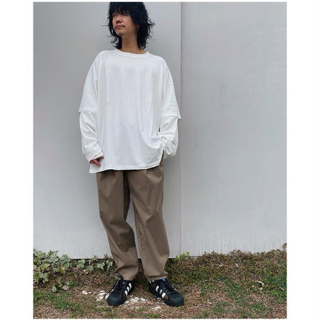 FACCIES「SLEEVE MESH LAYED L/S」white.