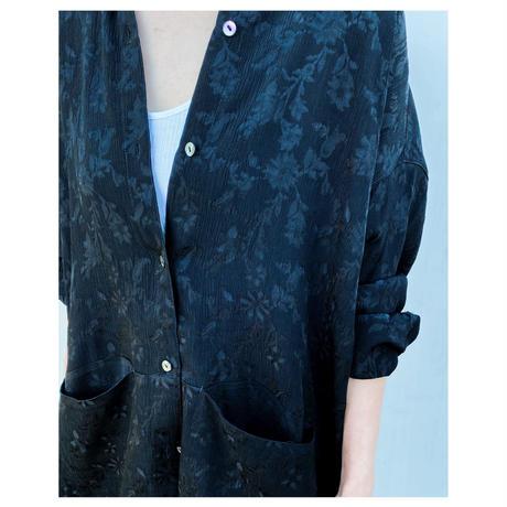 ERIKOKATORI「Big Pocket Back Open shirts」black.