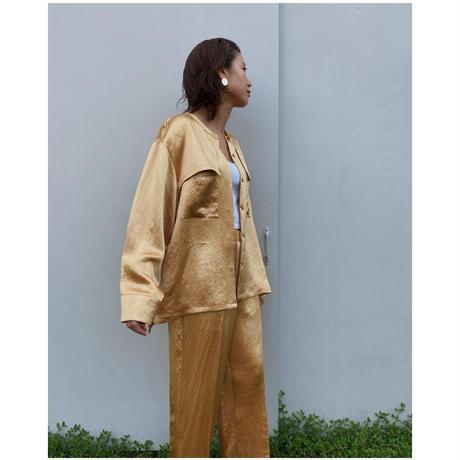 DOMENICO+SAVIO「satin blouse」Honey.
