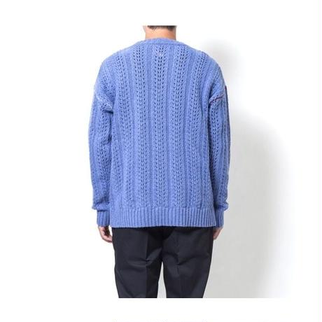 SON OF THE CHEESE「Stitch hide crew knit」