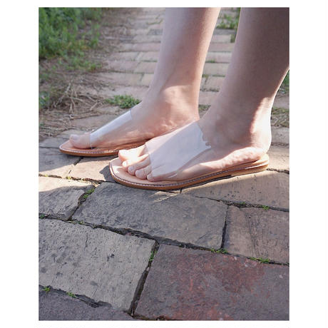THE Dallas「clear sandals」