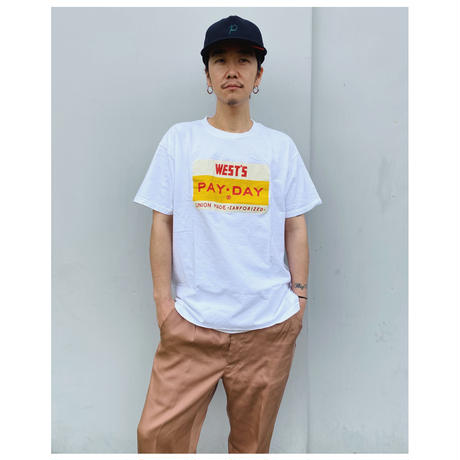 WESTOVERALLS × PAY DAY「TEE」white.