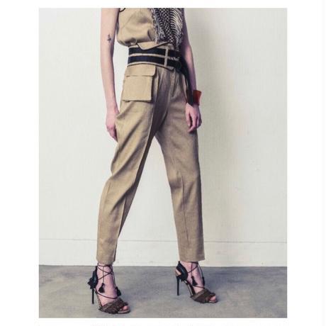 EBONY「Linen Belt Pants」