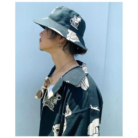 BLACK WEIRDOS「Skull Pattern Hat」