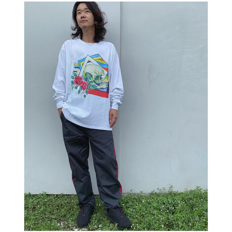 Black Weirdos「Skull Drawing L/S Tee」white.
