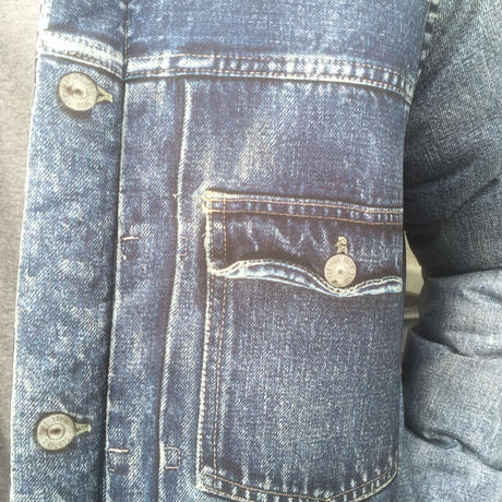 VOTE MAKE NEW CLOTHES  3D VTG DENIM PUFF JK