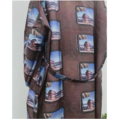 BLACK WEIRDOS「Silk Gown Coat」