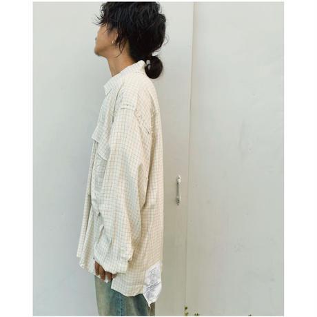 BLACK WEIRDOS「Big Pocket Shirt」white.