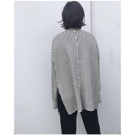 TAN.「STRIPES HIGH /N pullover」
