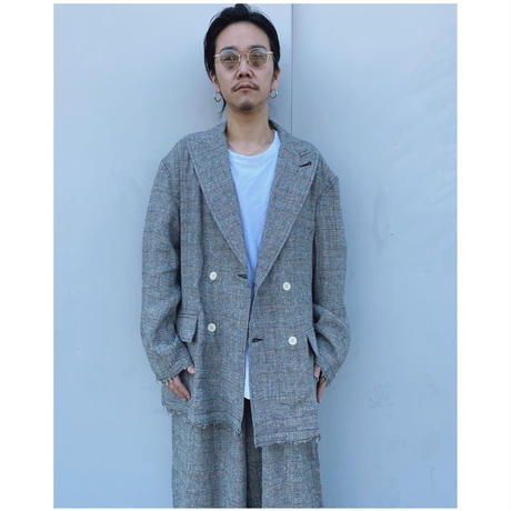 FACCIES「S/L Double Jacket」glen check.
