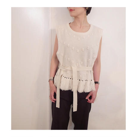 DOMENICO+SAVIO「SLEEVELESS KNIT TOPS」