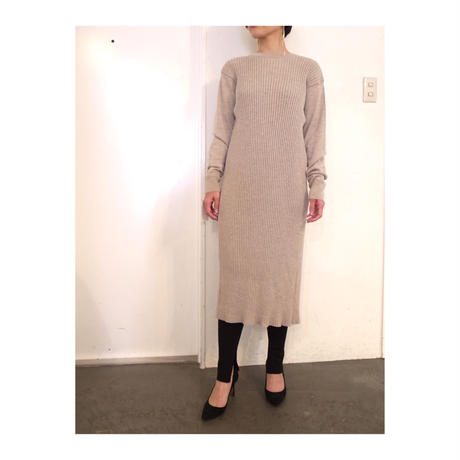 DOMENICO+SAVIO「RIB KNIT BACK OPEN DRESS」