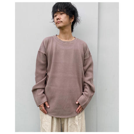 FACCIES「HEAVY THERMAL PULL OVER」brown.