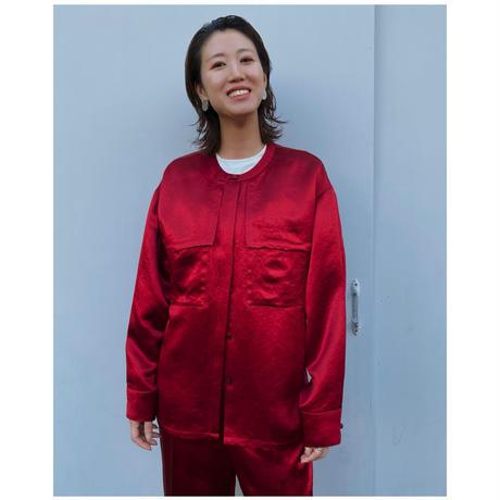 DOMENICO+SAVIO「satin blouse」red.