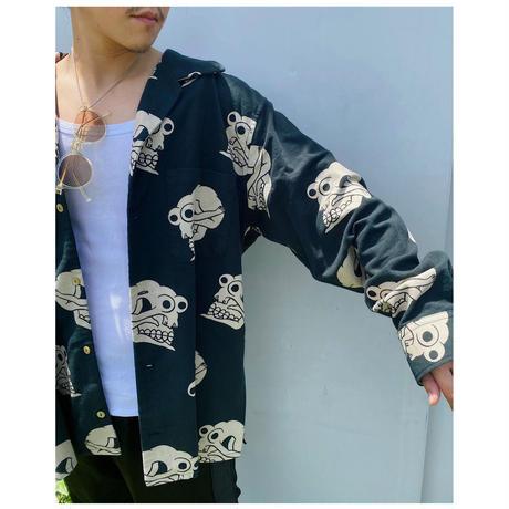 BLACK WEIRDOS「Skull Puttarn Flannel Shirt」