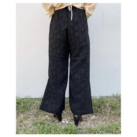 ERIKOKATORI「Slit Pants」black.