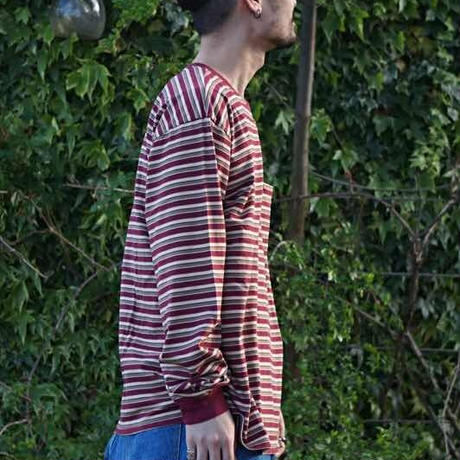 COMFORTABLE REASON 「Multi border L/S tee」