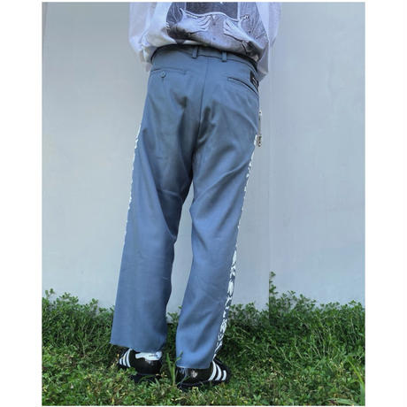 BLACK WEIRDOS「Cut off Chino PANTS」blue.