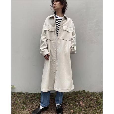 Eica yoshinari「Light Melton Shirts JK」
