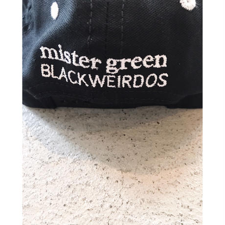 Black Weirdos × mister green「MGBW cap」