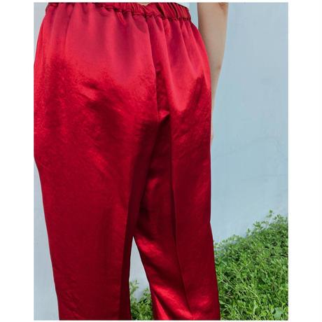 DOMENICO+SAVIO「satin easy slacks」red.