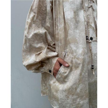 FACCIES「Tiedye Lace Up Bandana Shirt」beige.
