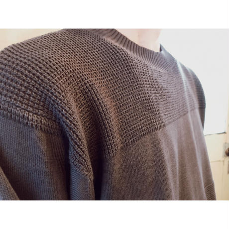 SON OF THE  CHEESE 「C100 border knit」 gray