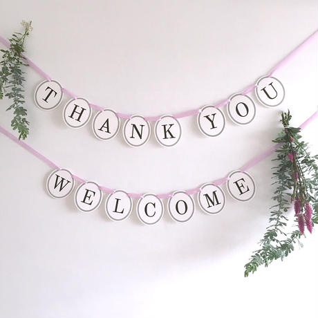 【2点セット】 WELCOME・THANK YOU  * Garland