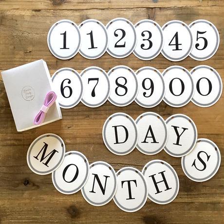 Number & MONTH DAYS Garland Set