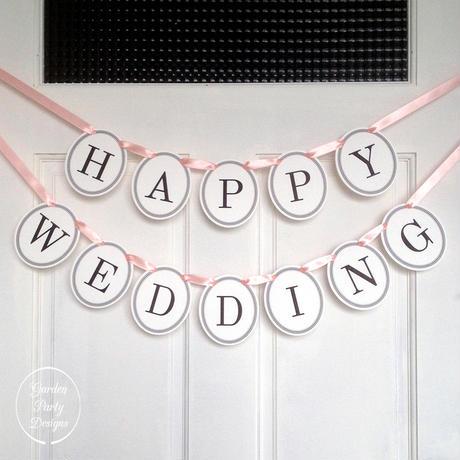 HAPPY WEDDING * Garland