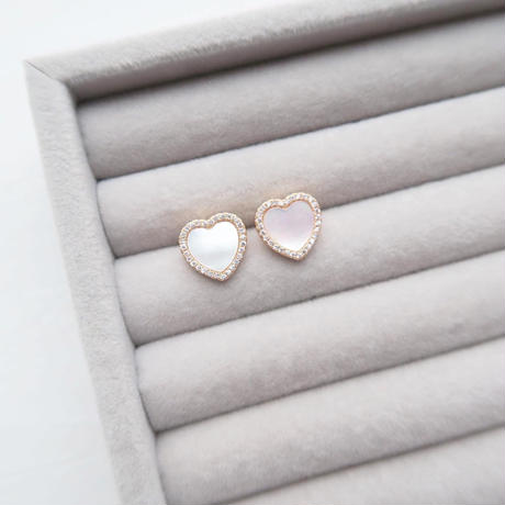 """Mother of Pearl """"Heart"""" Necklace / ピアス"""