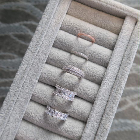 Eternity Ring / Micro Pave Rose gold