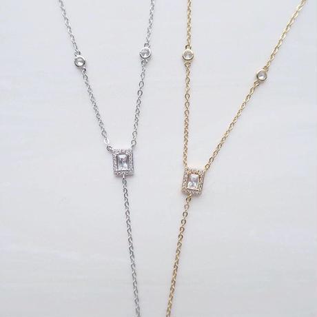 【1点限り】Y Line Necklace / Silver