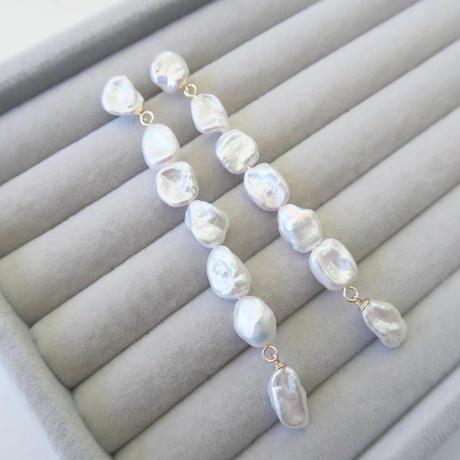 Baroque Pearl Drop ピアス