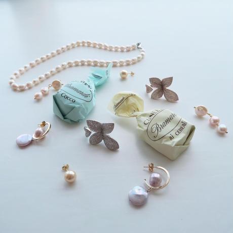Baroque Pearl ピアス/ Purple