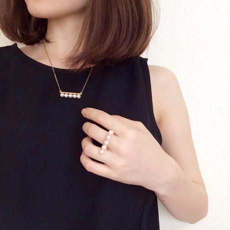 5peal necklace(5パールネックレス)