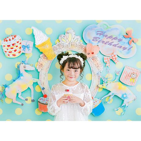 ★おうち写真館 CC magical mirage MINT 保坂さほコラボデザイン [bdi]